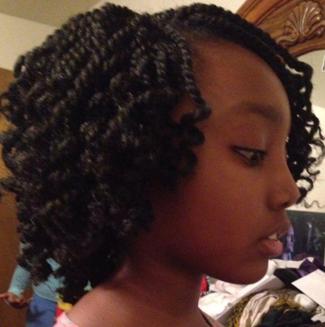 Kinky Twist Crochet Braids Hairstyles For The Tween