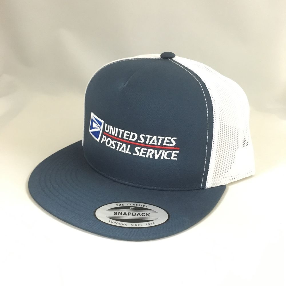 USPS Hat Cap Logo Navy White Trucker