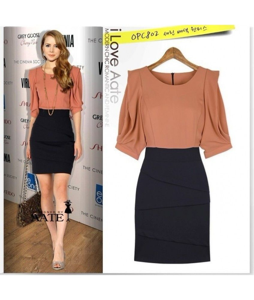 Office Dress Code 2013 New Fashion Dress Women 2013 Office Lady Buiness A Line Dress Half