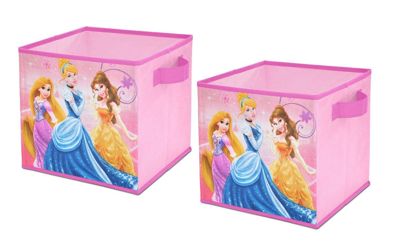 Disney Princess Storage Cubes Set Of 2 10 Inch Korobki Dlya Hraneniya Igrushek Hranenie Igrushek Detskaya Komnata