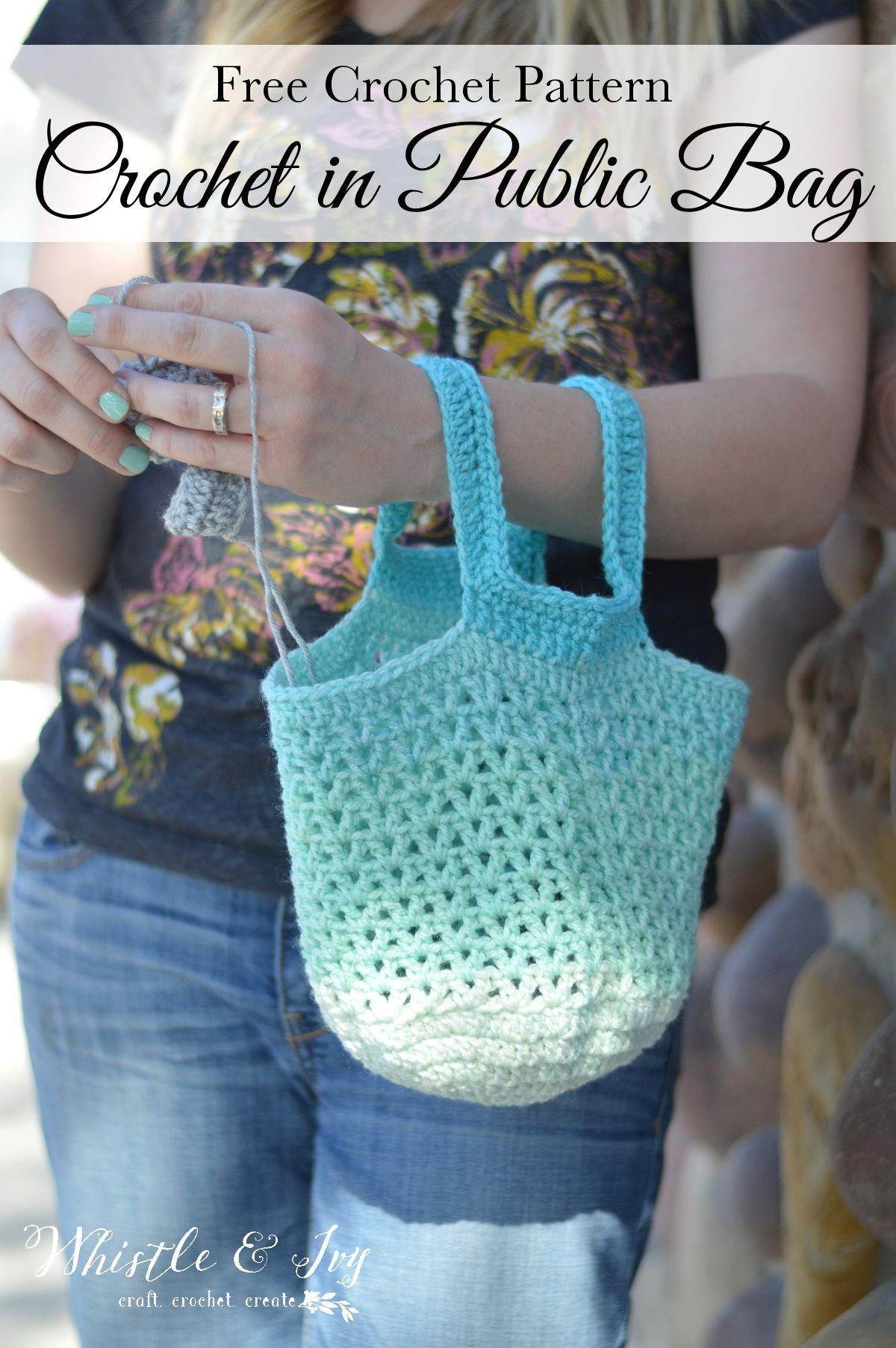 Crochet in Public Bag Pattern | Pinterest | Free crochet, Yarns and Arms