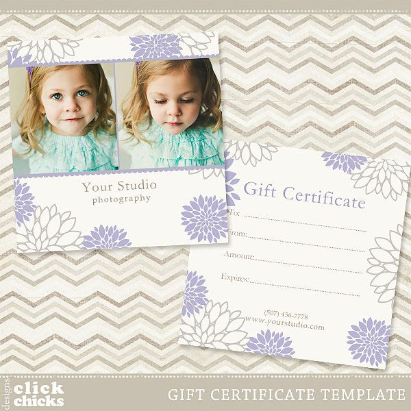 Photography Gift Certificate Template 003 - C032, INSTANT DOWNLOAD - photography gift certificate template