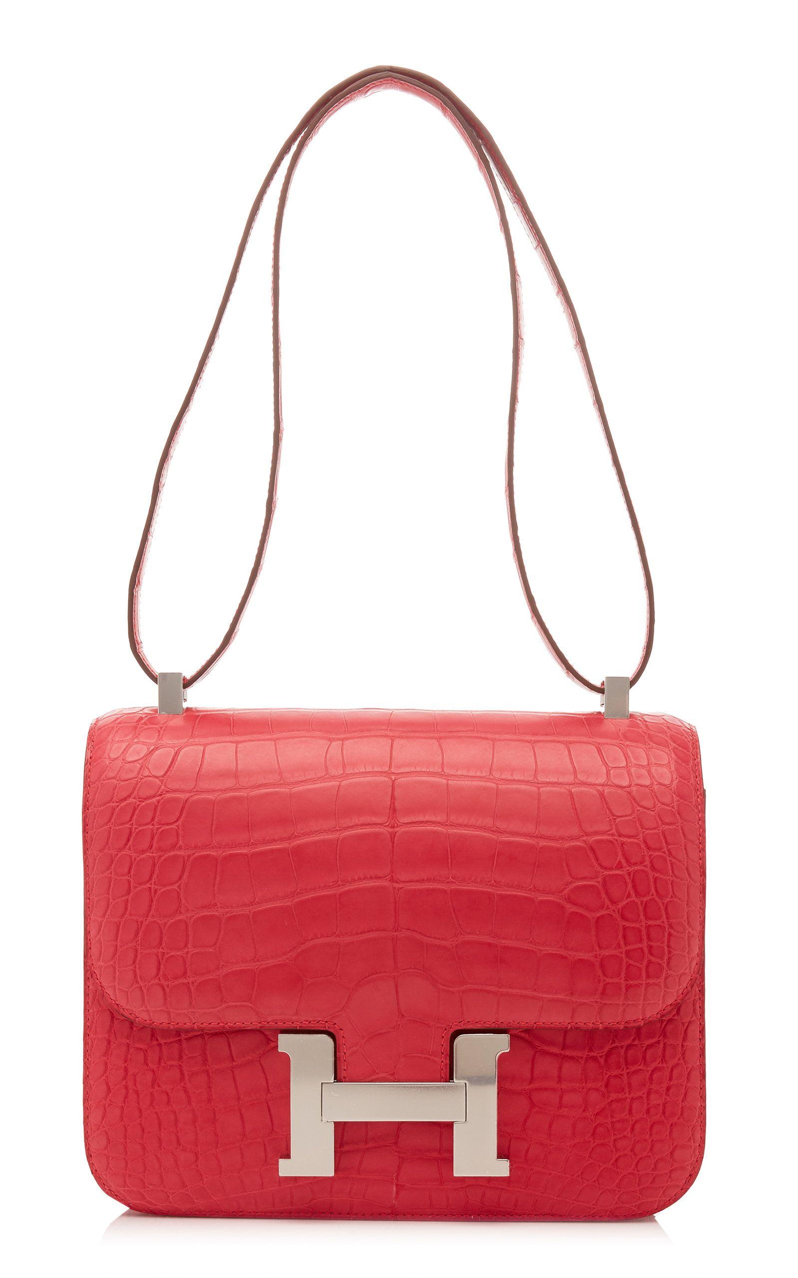 Hermès 24cm Rose Extreme Matte Alligator Constance  7a46e102a688a