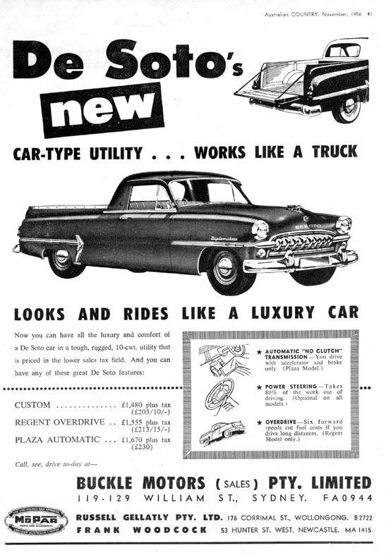 1956 desoto utility ad