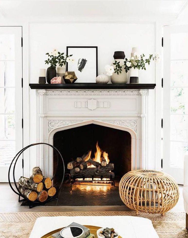 Pinterest Caliaye Fireplace Fireplace Mantel Decor Cozy House