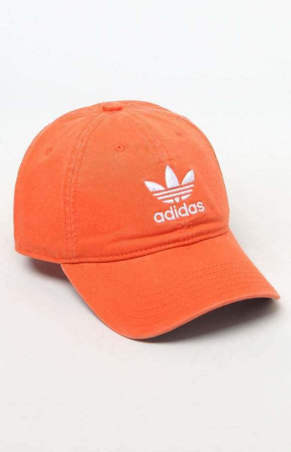 2a6d2b6541 adidas Washed Orange Strapback Dad Hat