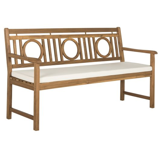 Crosshatch Outdoor 3 Seat Bench Wooden Garden Benches Garden Bench Cushions Wooden Garden