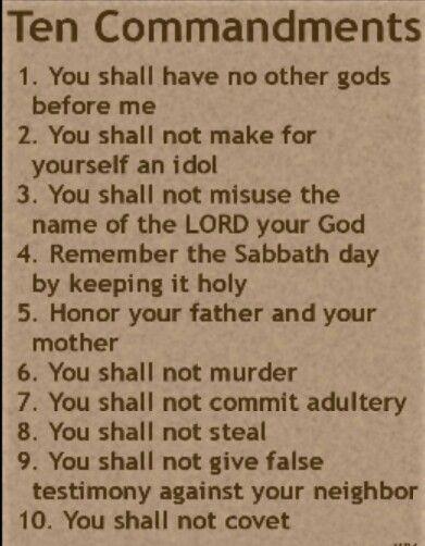 10 commandments of god # 5