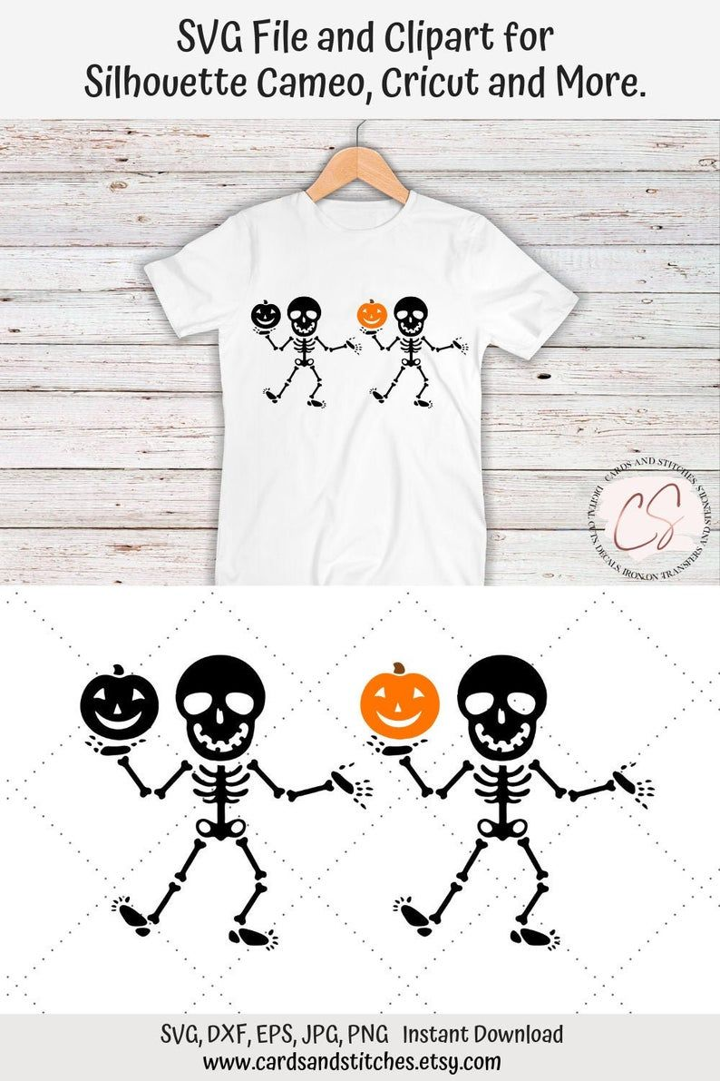 Skeleton SVG Halloween SVG Skeleton Pumpkin SVG Digital