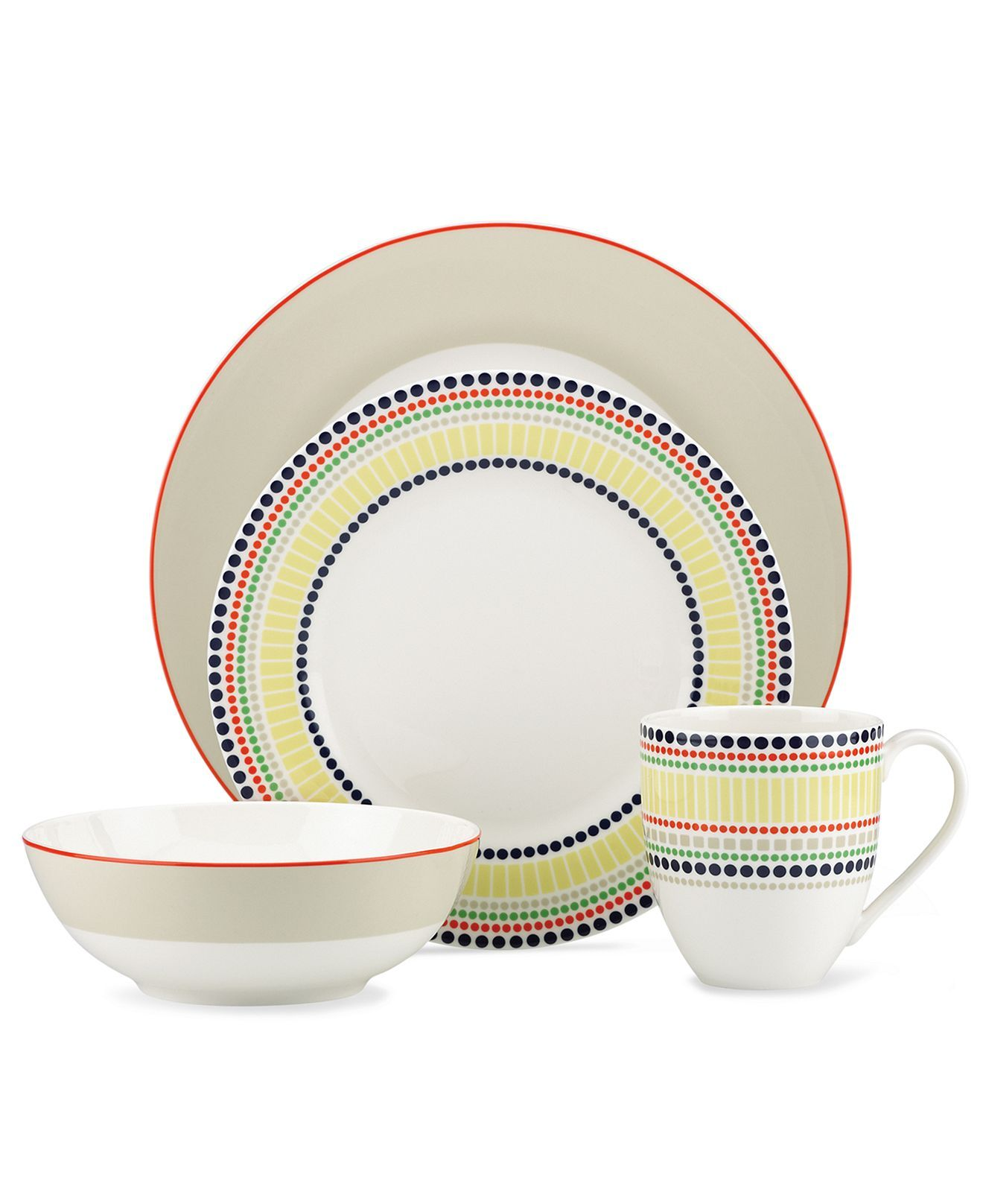 kate spade new york Dinnerware Hopscotch Drive Collection - Casual Dinnerware - Dining u0026 Entertaining  sc 1 st  Pinterest & kate spade new york Dinnerware Hopscotch Drive Navy Collection ...