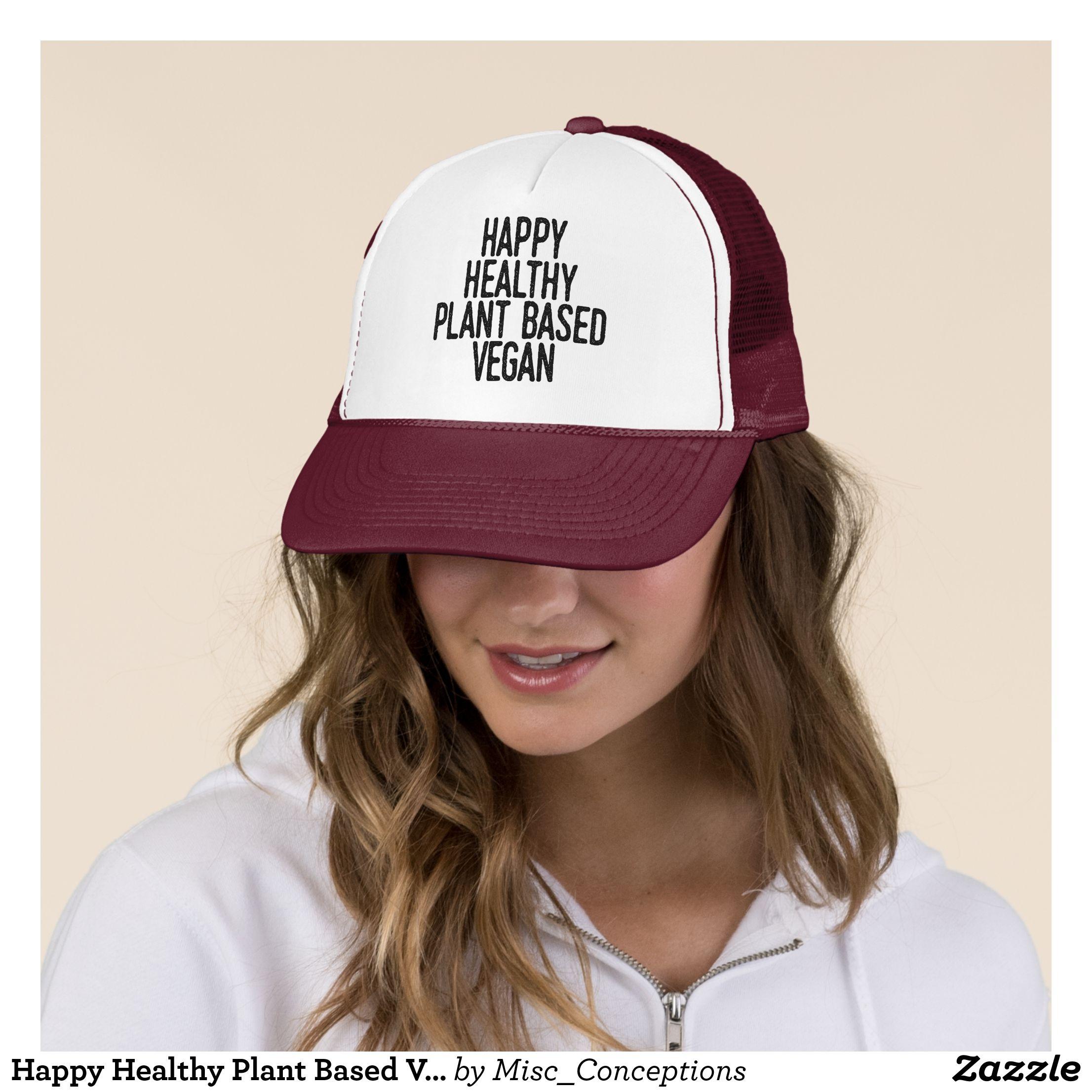 9781dd75 Happy Healthy Plant Based Vegan (blk) Trucker Hat - Urban Hunter Fisher  Farmer Redneck Hats By Talented Fashion And Graphic Designers - #hats  #truckerhat ...