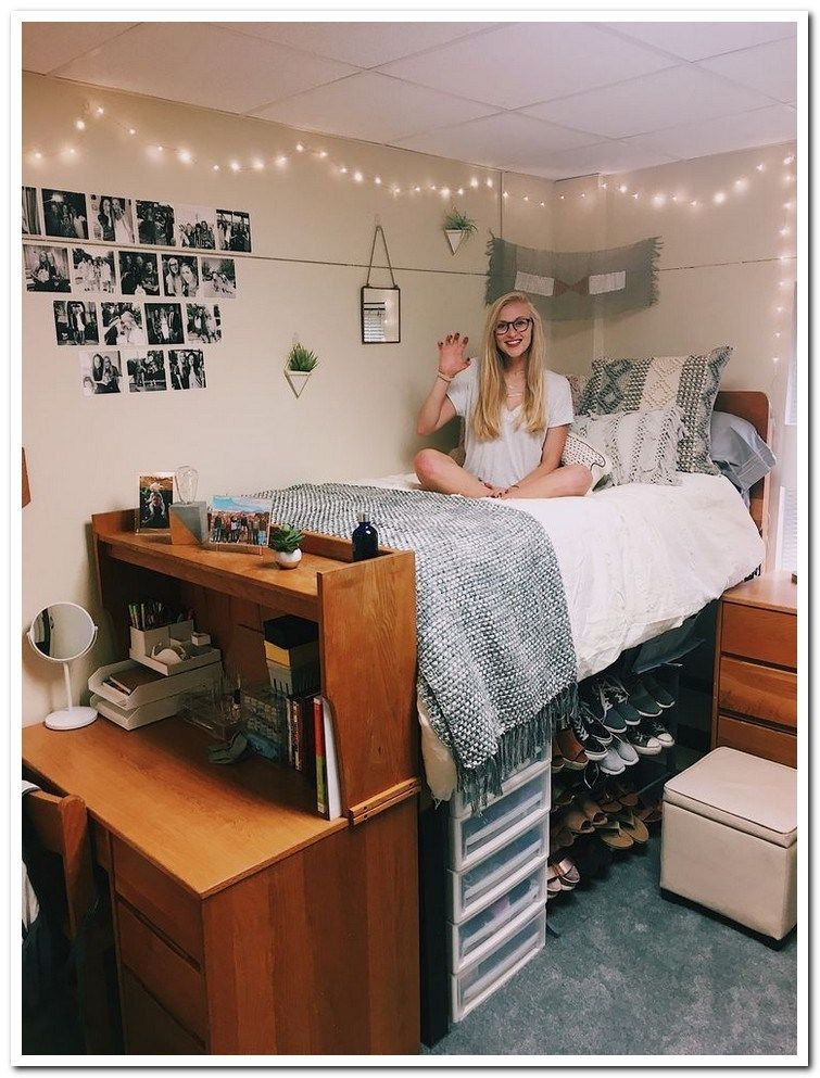 Awesome College Dorm Rooms: 33 Awesome College Bedroom Decor Ideas And Remodel 28