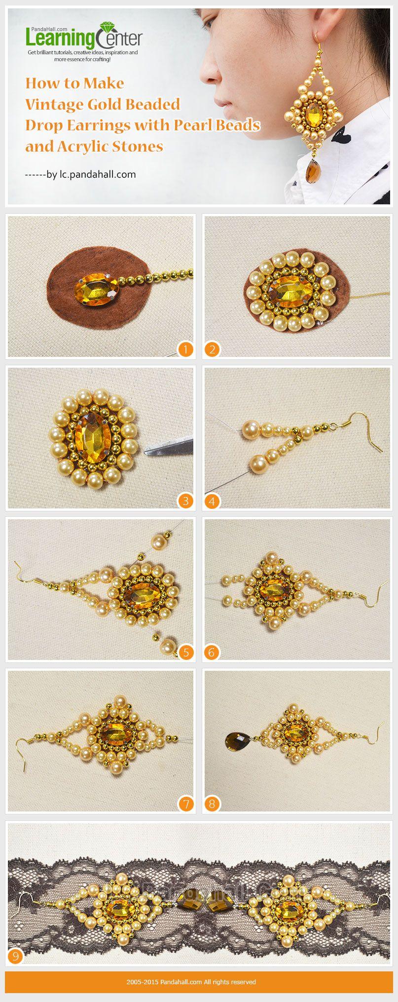 Beaded Drop Earrings | Jewelry Making Tutorials & Tips ...