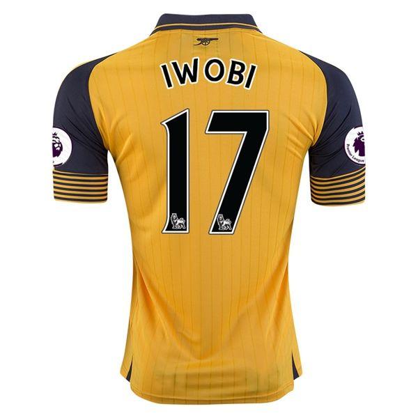 Arsenal Jersey 2016/17 Away Soccer Shirt #17 IWOBI