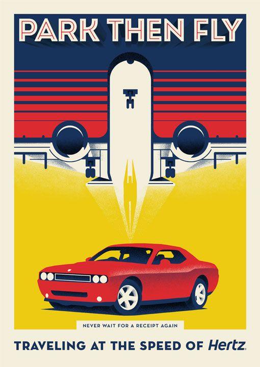 Retro car ad