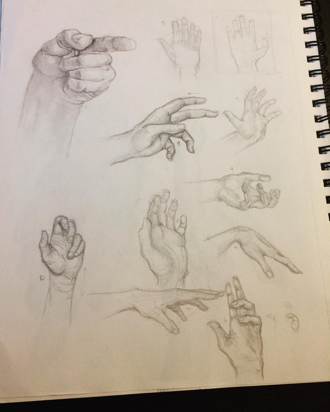 #daily #hand #practice using #pencil and occasionally #charcoal. Going to try to study a different part of #anatomy every week so that I can get better faster and stronger! :P ... #art #study #sketch #sketching #hand #hands #perspective #shading #realsim #human