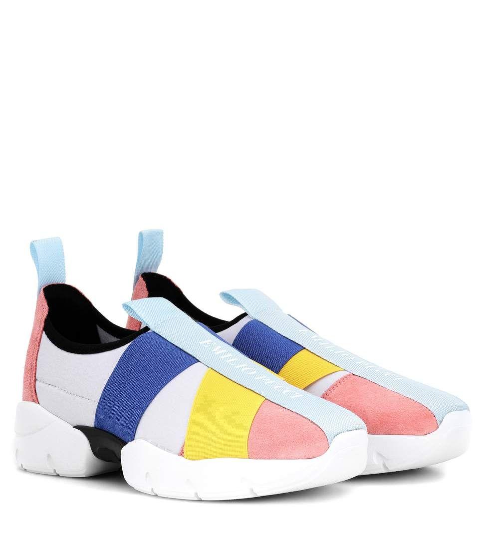 Suede-trimmed sneakers Emilio Pucci pXK27