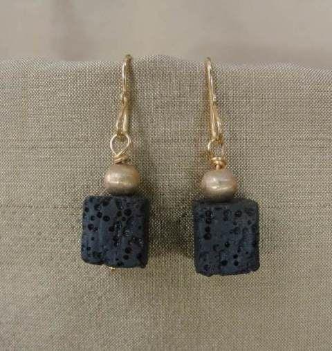 Lava Rock Bead Earrings Gold Earrings For Women Earrings Collection Earrings