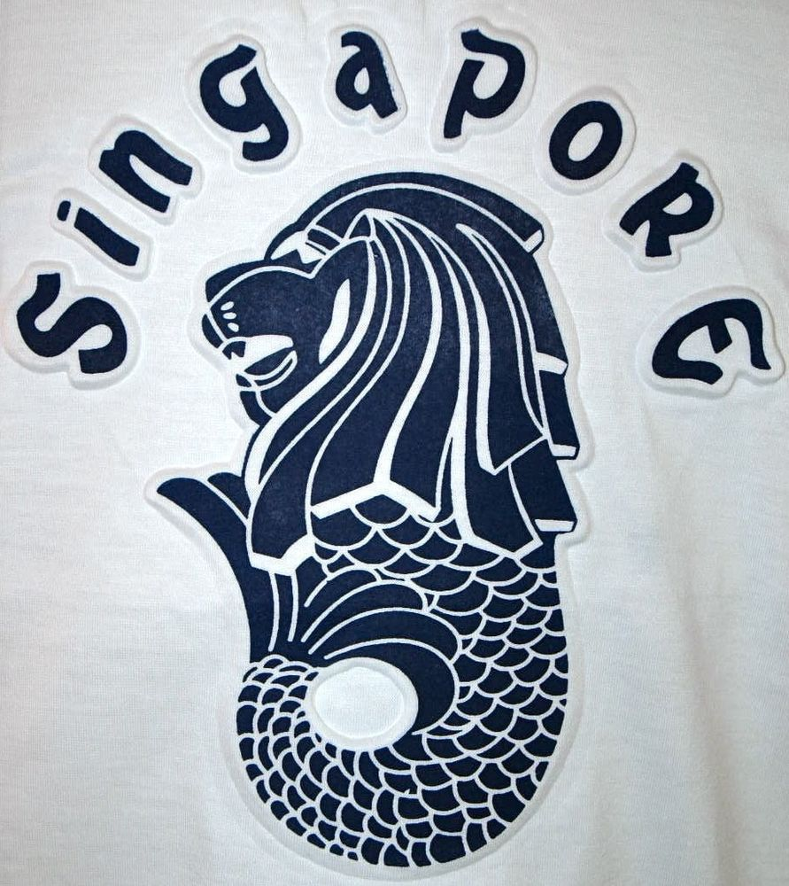 Design t shirt online singapore - New Singapore Adult Small White Merlion Of The Lion City T Shirt S Nwt