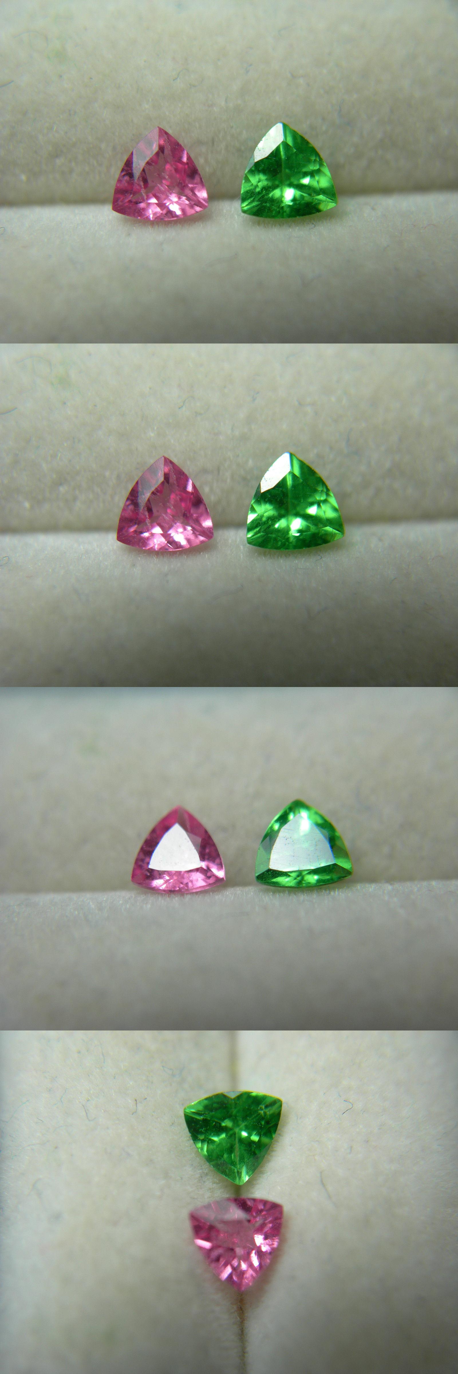 Tsavorite 110809: Rare Pair Tsavorite Garnet And Hot Pink Spinel ...