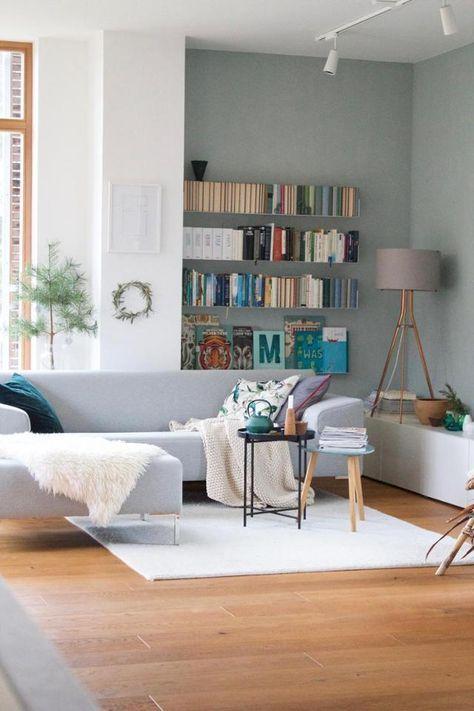 Neue #Wandfarbe #Salbei im #Wohnzimmer #home #Living basement