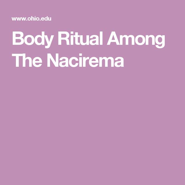 nacirema rituals list