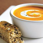 Slow Cooker: Roasted Red Pepper and Sweet Potato Soup