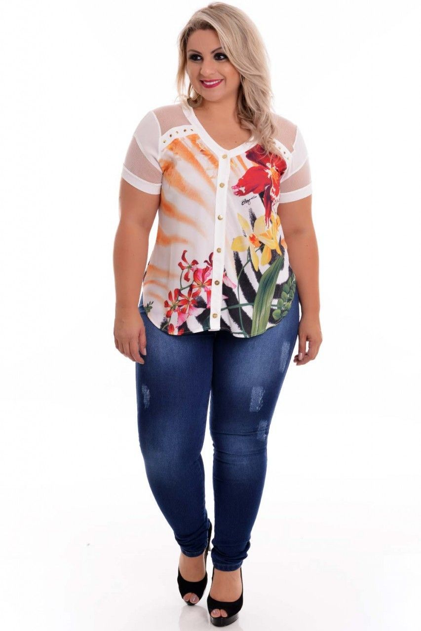 dae8f8d3b Camisa Plus Size Cleo Pires in 2019 | 11 | Cleó pires, Camisas plus size