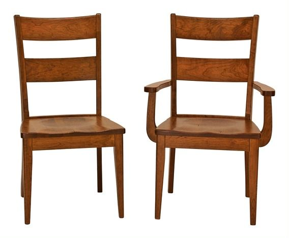 Wellington Solid Wood Ladderback Chairs Amish Furniture Mission Shaker Chicago