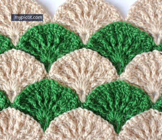 Ooo I Love This Crochet Textured Shell Pattern Diagram