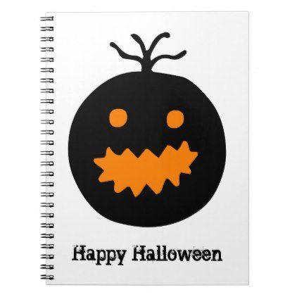 Cute Halloween Pumpkin Notebook - Halloween happyhalloween festival party holiday