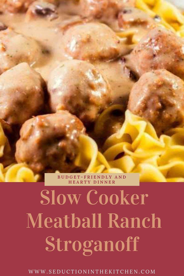 Photo of ? Slow Cooker Meatball Ranch Stroganoff {Stroganoff With Meatballs}