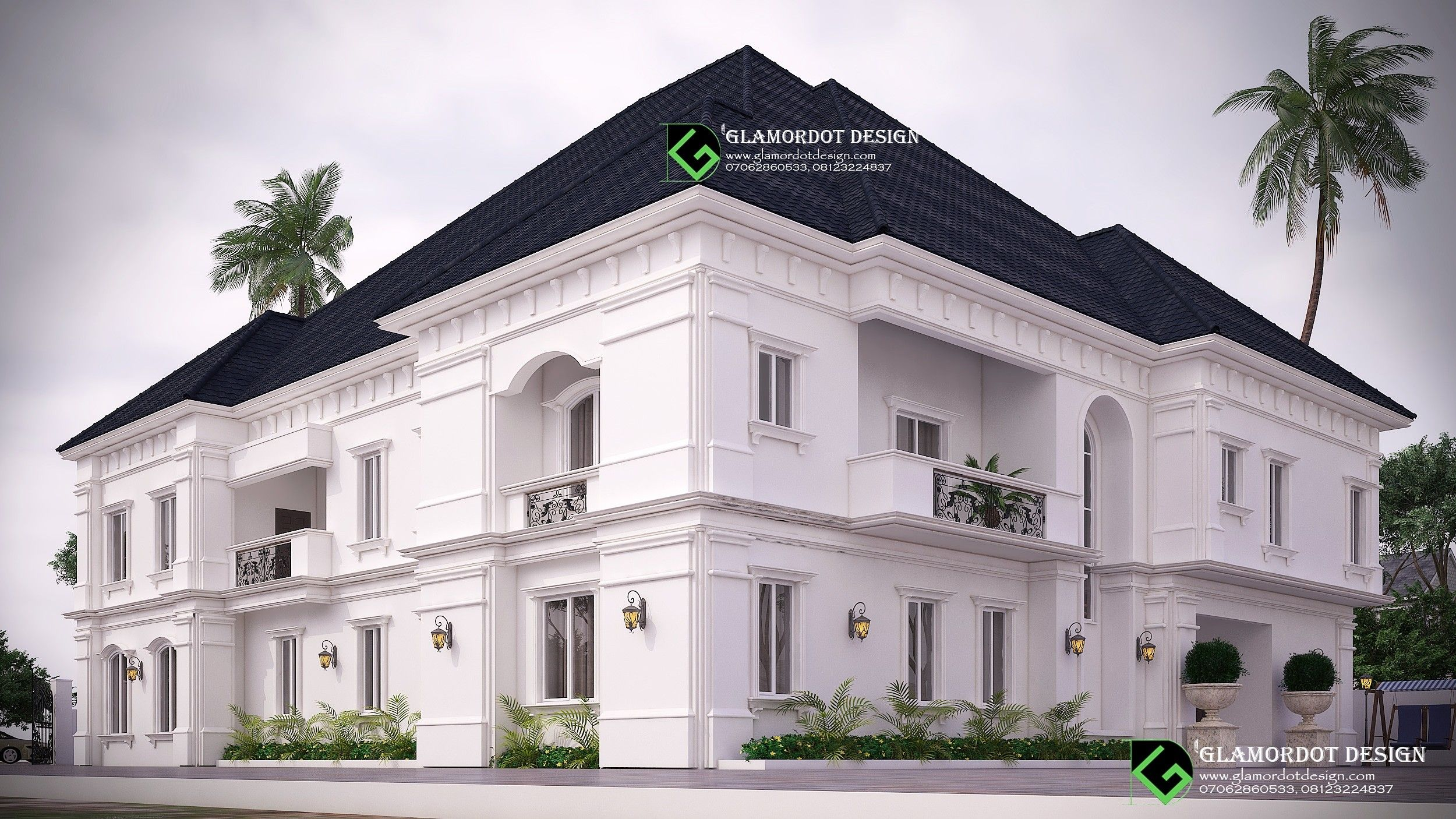 Architectural Design Of A Proposed 5 Bedroom Duplex Design Duplex Design Mansion Designs Architecture Design