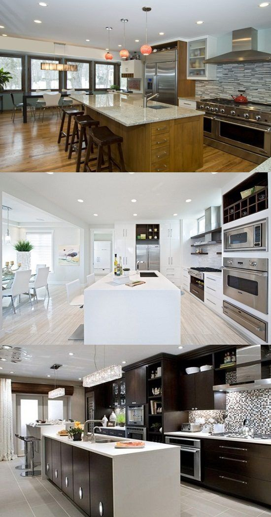 Popular Modern Kitchen Designs Are Many. Black And White Colors Are Two Of  The Most Important Colors Used For Emphasizing Modern Design.