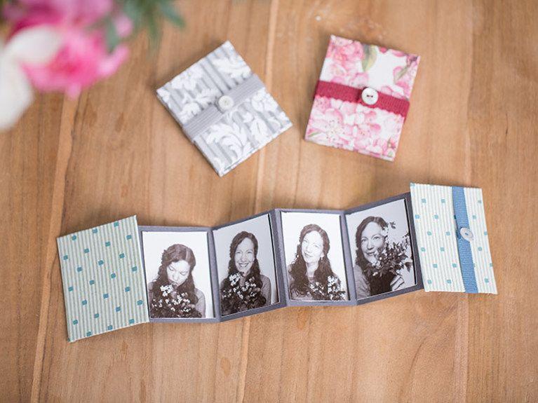Diy Anleitung Susses Mini Leporello Album Selber Machen Via Dawanda