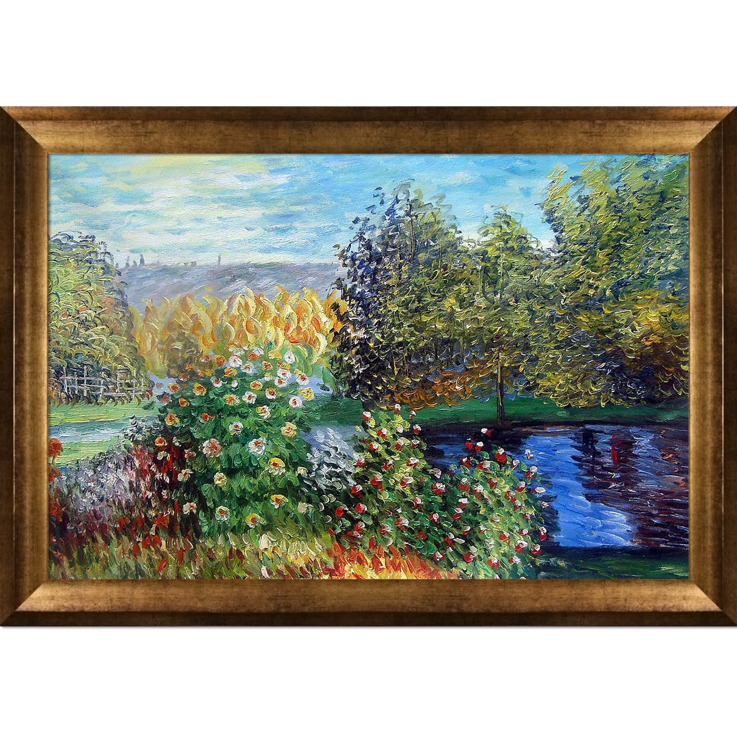 Claude Monet \'Corner of the Garden at Montgeron\' Hand Painted Framed ...