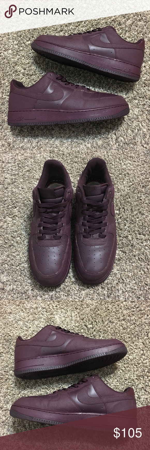 2b9c64c5928d7e Nike Air Force 1 Tec Tuff Deep Burgundy Sneakers Nike Air Force 1 Low Tec  Tuff Deep Burgundy 2011 Basketball Sneakers Size 11.5 Good condition but  has some ...