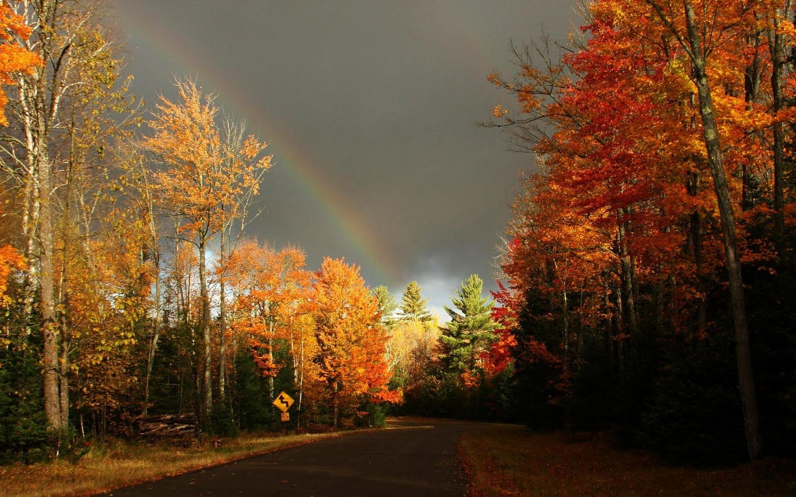Rainbow Without Rain Inspirational Facebook Timeline Cover