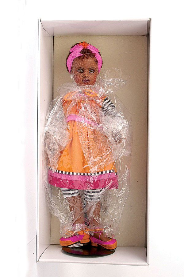 360: Jan McLean Grace black vinyl doll : Lot 360