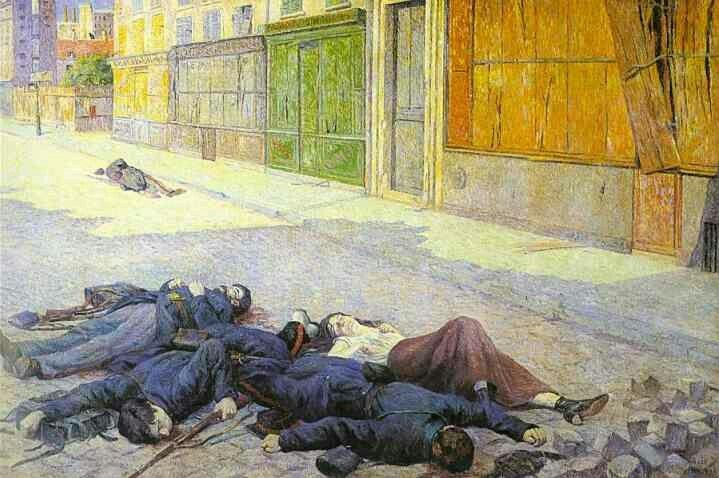 Paris Street in May 1871 (The Commune) 1903-05  Maximilien Luce