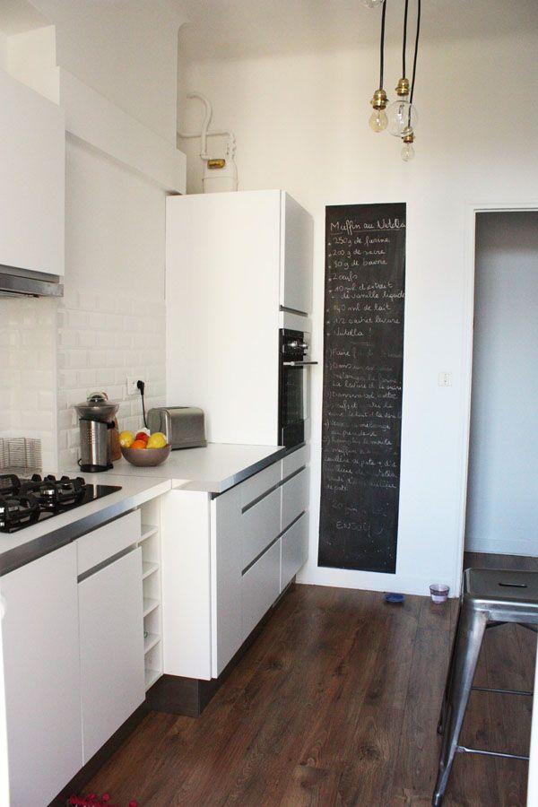 Avant après  une cuisine refaite avec brio Blackboards, Kitchens