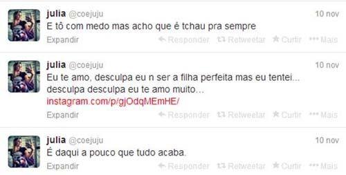 Julia Rebeca comete suicídio