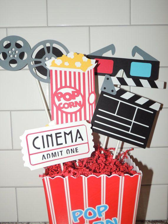 Movie Birthday Party Centerpiece Cinema By Artofentertaining Movie Party Decorations Movie Themed Party Movie Birthday Party