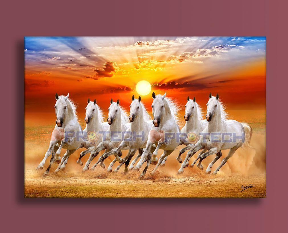 Seven Horses Painting Vastu Seven Horses Seven Horses Painting Horse Wallpaper Painting