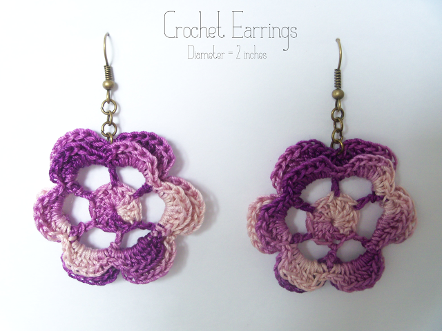 Free Pattern Crochet Earrings Earrings Pinterest Crochet