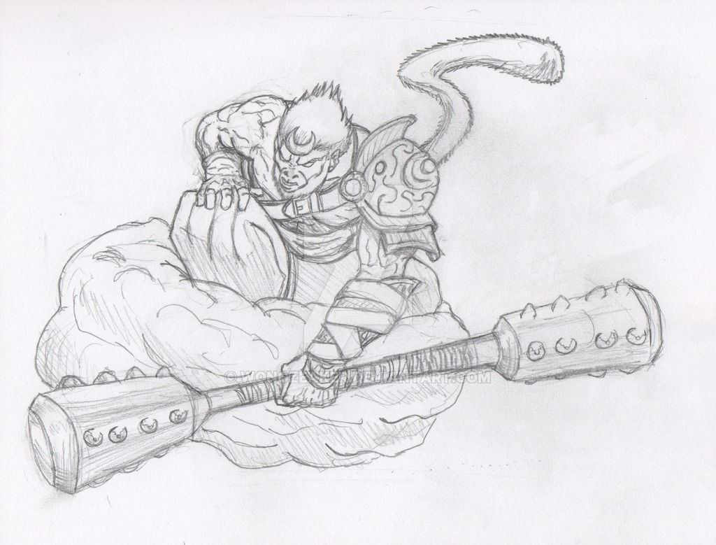 It is a picture of Amazing Sun Wukong Drawing