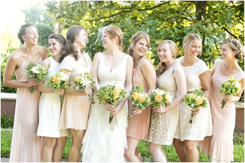 Dallas Wedding Photographer Mary Fields Photography DIY Backyard Bridal Party Attire
