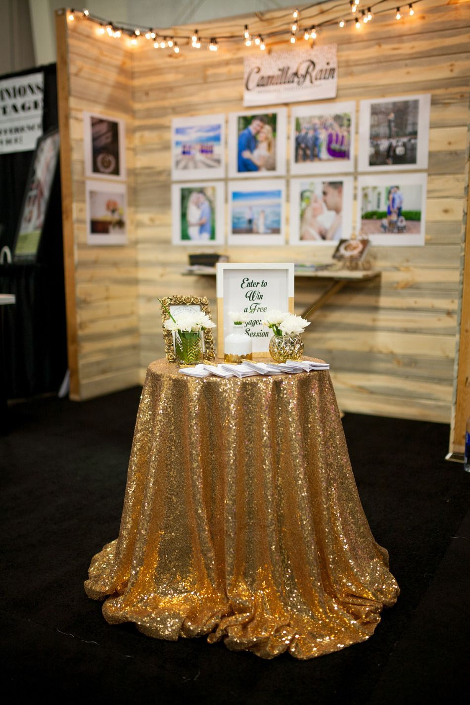 Wedding Photographer Booth Setup at a Bridal Show Bridal Show
