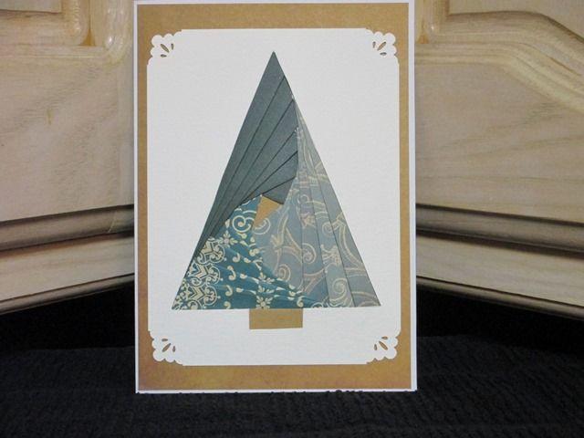 Iris Fold Christmas Card