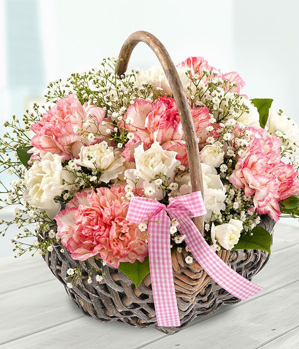 Beautiful day mothers day flower basket arrangement for Mothers day flower arrangements